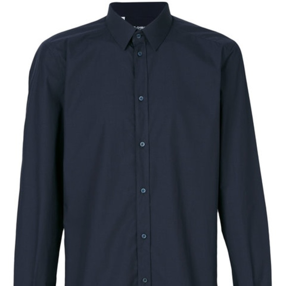 1d595847849 Dolce & Gabbana Shirts | Dolce Gabbana Navy Blue Button Up Shirt ...